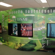Linear exhibition stands