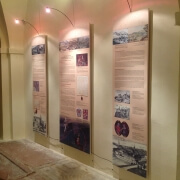 Exhibition graphic panels with magnetic fixing